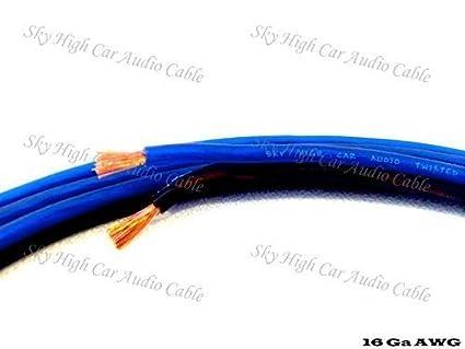 Amazon.com: 100 \' feet TRUE 16 Gauge AWG Speaker Wire Car Home Audio ...