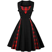 Olddnew Women's Retro Vintage Cocktail Dress - Plus Size 50's Style Rockabilly Swing Party Dresses for Women