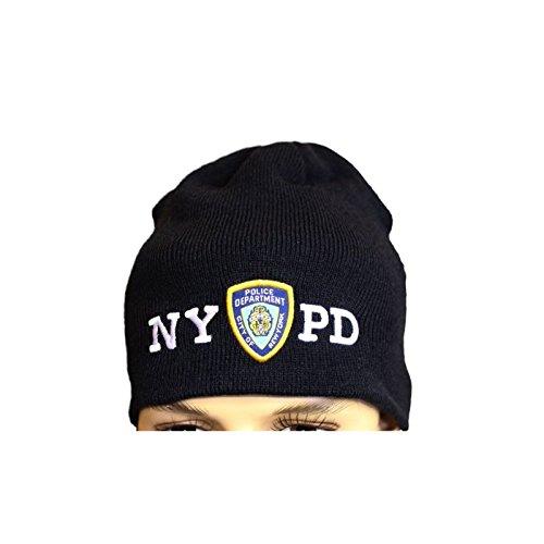Amazon.com  NYC FACTORY NYPD No Fold Winter Hat Beanie Skull Cap ... fa61e6cf375