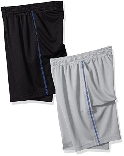 Amazon Essentials Boys' 2-Pack Mesh Short, Black/Light Grey, 4T by Amazon Essentials (Image #2)