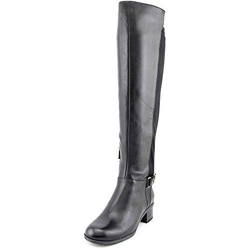 Bandolino Women's Cuyler Leather Riding Boot, Black, 7 M US - Bandolino Leather Platforms
