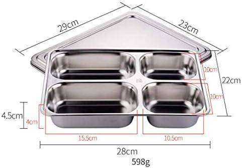 Comida Cubiertos ZTMN Lonchera Compartimento de Acero Inoxidable 304 Bandeja para refrigerios de 4//5 Rejillas con Tapa Cantimplora Color: Cinco Rejillas, Tama/ño: sin Tapa