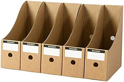 Meaor - Revistero de 5 niveles, de cartón, revistas, libros, de ...
