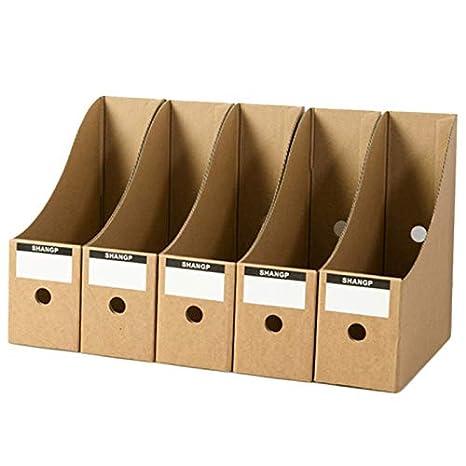 Meaor - Revistero de 5 niveles, de cartón, revistas, libros, de papel