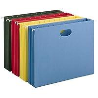 "Bolsillo colgante de smead con escudete de altura completa, expansión de 3-1 /2 "", tamaño carta, colores surtidos, 4 por paquete (64291)"