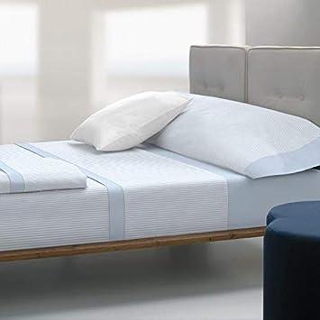 TOLRA Juego de sábanas Estilo Cotton TK027 (Azul, 90)