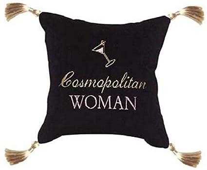 Amazon Leyla's Pillows Cosmopolitan Woman Funny Decorative Delectable 10x10 Decorative Pillows
