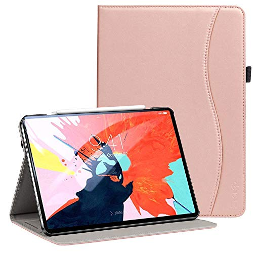 Ztotop for iPad Pro 12.9 Case 2018, Premium Leather Slim Folio Stand Cover for Apple iPad Pro 12.9-Inch 3rd Gen with Auto Sleep/Wake, Charge/Pair with New Apple Pencil, Multi-Angle Viewing, Rose Gold