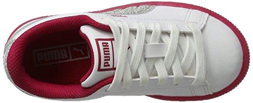 Blanc Sneakers Iced White Puma PS Enfant Mixte 2 Basses Glitter silver Basket vX5qg5xwz
