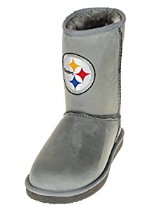 Pittsburgh Steelers NFL Women's The Devotee Boot - Gray