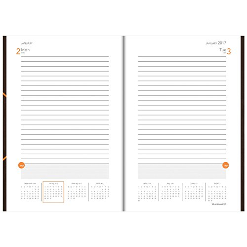 at a glance planning notebook 2017 one day per page 6 x 9 plan