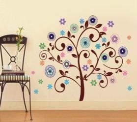 Rainbow Wall-stickers Wall Decor Removable Decal Sticker - Colorful Tree