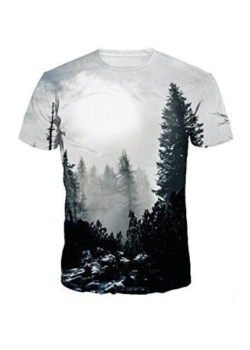 Sankill Summer Casual T Shirt Galaxy Space Creative 3D Printed Graphic Men Women Unisex Couple Tees Top Short Sleeve