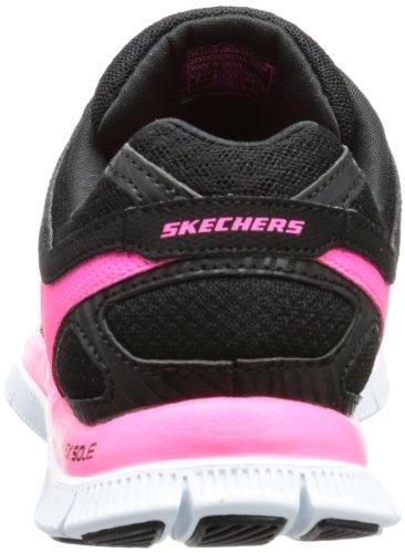 Skechers Flex AppealLove Your Style - Zapatillas de material sintético mujer negro - Schwarz (BKHP)