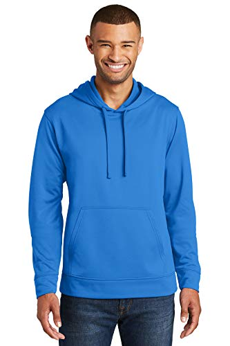 Port & Company 174 Performance Fleece Pullover Hooded Sweatshirt. PC590H X-Large Royal