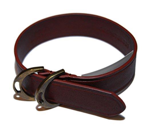Polo Ralph Lauren Men Vintage Equestrian Leather Brass Bracelet Strap Brown Gold (Ralph Bracelets Vintage Lauren)