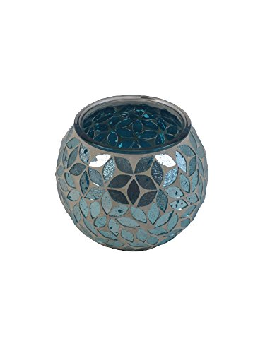 "Firefly Home Collection Mosaic Candle Holder, 4 x 4 x 4"", Te"