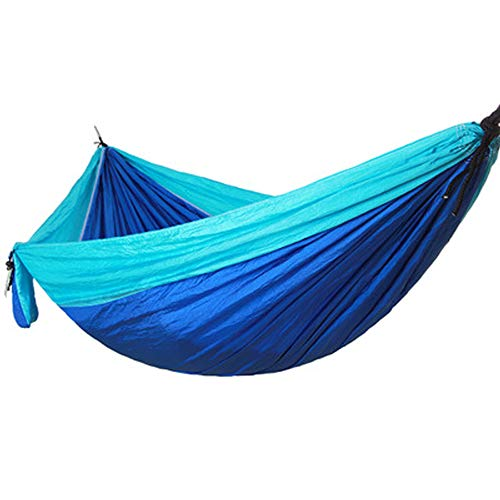 Outgoing double camping hammock sling, portable outdoor camping, portable parachute nylon hammock Backpack Travel porch, backyard, indoor, Camping - durable, ultra-light materials - including sling (b ()