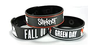 Fall Out Boy And Green Day And Slipknot New 3Pcs(3X) Bracelet Wristband Fogdsk