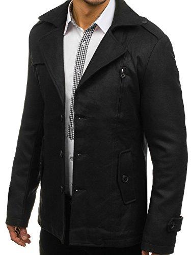 De MIX Hombre 3127 Invierno BOLF Negro Abrigo 8gZnWWSF
