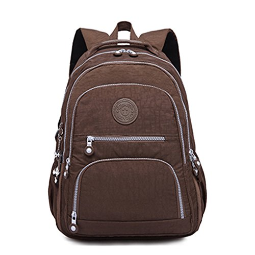 Female Backpack Women School Bagpack Teenage Girls Feminina Laptop Backpacks Travel Bags Casual Coffee 31Cmx14Cmx42Cm ()