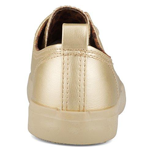Sneaker Da Donna In Ecopelle A Torsione Bassa Intrecciata Da Donna