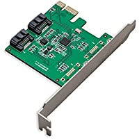 Syba PCIe 2-Port SATA3 Raid Controller Card with Speed Up to 6 Gbps SY-PEX40032