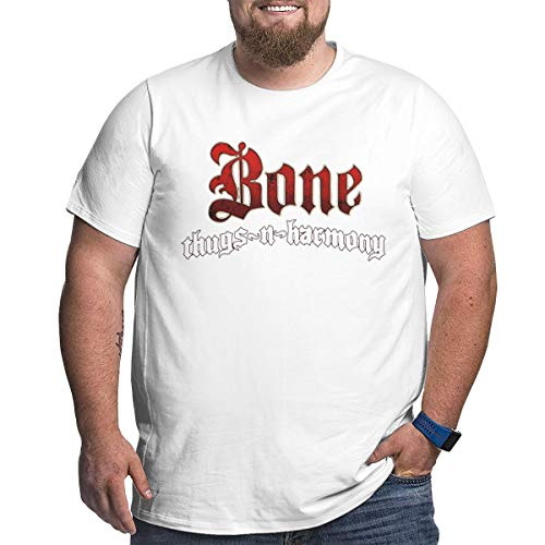 CiXianFuLu Bone Thugs N Harmony Logo Mans Personalized Short Sleeve Tee White 6XL
