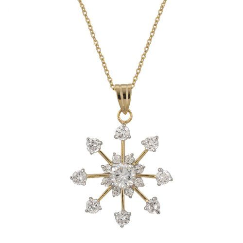 Golden Snowflake Drop Pendant from Icon Bijoux