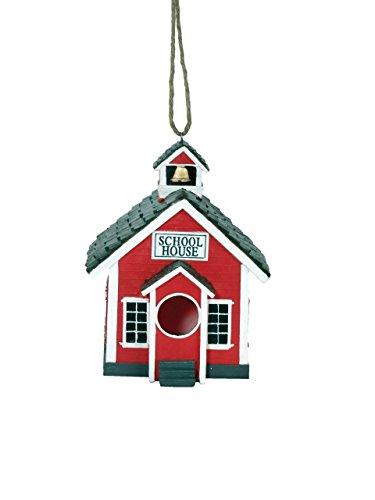 Spoontiques 10177 School House Birdhouse, Green
