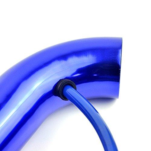 Delipop universel de voiture automobile Racing Prise dair Filtre Alumimum Tuyau Power D/ébit Kit Bleu