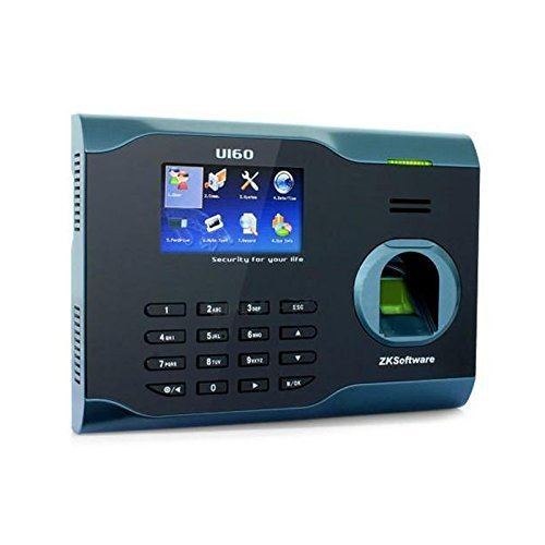 New Zksoftware Bio Office U160 Employee Entry Biometric Fingerprint Time Attendance System Punch Clock 3 Inches Color TFT Screen TCP/IP Ethernet Ports USB-Device RS232/485 Communication, Store 3200 Fingerprint patterns and 100000 Transaction Records, 5V D
