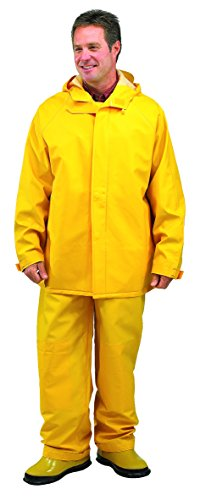 Galeton 7953-L-YW 7953 Repel Rainwear 0.50 mm PVC 2-Layer Rain Suit, Yellow, Large