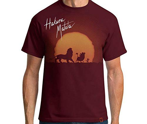 Camiseta Hakuna Matata Cor:vermelho Escuro;tamanho:m