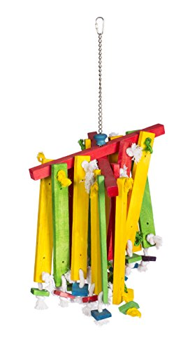 Prevue Chime (Prevue Pet Products 60948 Bodacious Bites Wood Chimes Bird Toy, Multicolor)