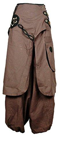 08 Xeira Aladin Pompa A Marrone Orientali Pantaloni pantaloni Harem vwqxZtv