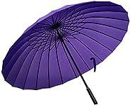 ThreeH Sports Umbrella Extra Large Windproof Golf Umbrella Portable Travel UV Protection 24 Ribs KS07