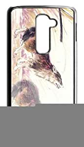 Wolf Art Watercolor Case Cover for LG G2 , Fit for AT&T