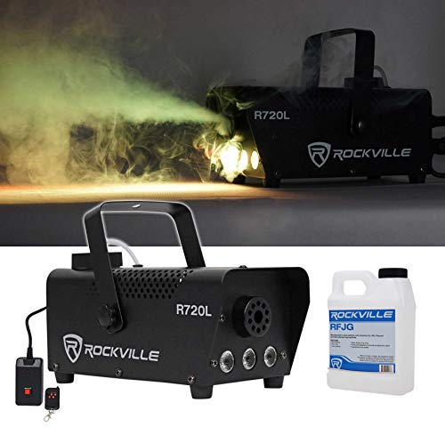 Rockville Fog/Smoke Machine w/Remote+Fluid+Multi Color LED Built In!
