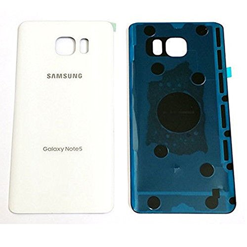 For Samsung Galaxy Note 5 N920 N920A N920T N920F Housing Battery Door Back Cover Glass Replacement Part USA Seller (White)