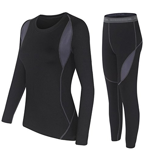Stomsera Men Thermal Underwear Sets Winter Hot Dry Technology Elastic Men Women Thermo Underwears Suits Warm Long Johns Women Balck XXXXL