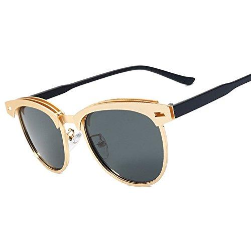 Sin TIANLIANG04 De De Polarizadas Bastidor Calidad De De Gold Gafas Sol Sol Gafas Alta Modo La Gray Mujer Semillas Gris Aleación Reborde De Del Oro qvxqwC4A