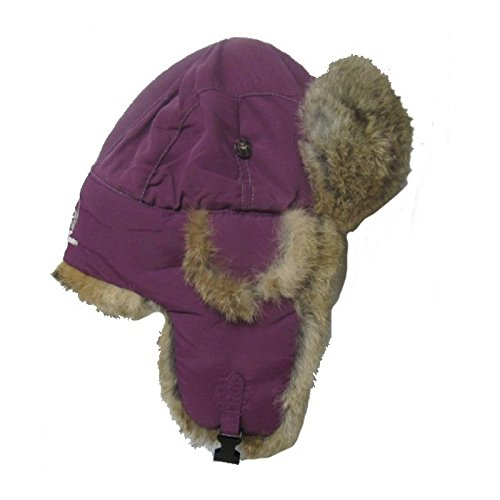 Mad Bomber Original Balaclavas Headwear, Wine with Brown Rabbit Fur, Medium