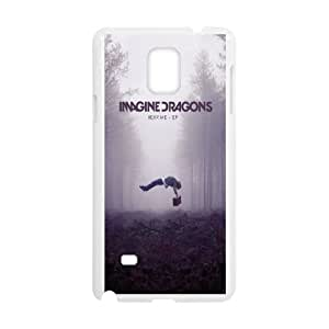 YUAHS(TM) New Fashion Cover Case for Samsung Galaxy Note 4 with imagine dragons YAS930882