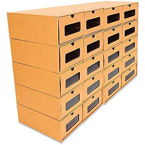 Zapatos De cartón elegante de Almacenamiento Cajón Caja Plegable Apilable Cubier Cajas zapatos almacenamiento cartón elegante debajo de la Cama Armario: Amazon.es: Hogar