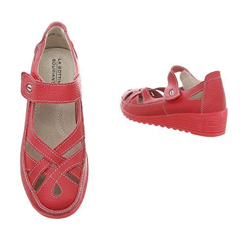 Zapatos para mujer Zapatos de tacon Plataforma Cuñas Ital-Design Rot 9003