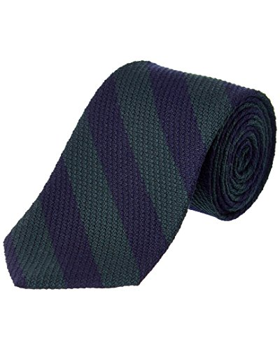 Brooks Brothers Mens Green Striped Wool-Silk Blend Tie, Os Brooks Brothers Striped Tie