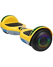 "SISIGAD Hoverboard Self Balancing Scooter 6.5"" Two-Wheel Self Balancing Hoverboard with Bluetooth Speaker and LED Lights Electric Scooter for Adult Kids Gift UL 2272 Certified - Pure Color Series"