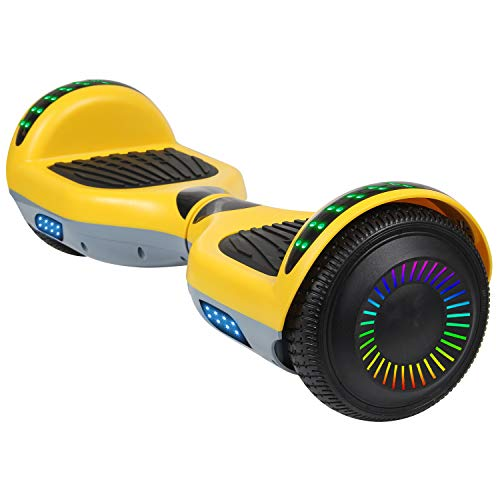 SISIGAD Hoverboard 6.5' Self Balancing Scooter with Colorful LED Wheels Lights Two-Wheels self Balancing Hoverboard Dual 300W Motors Hover Board UL2272 Certified