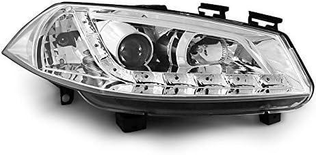 E15 Shop Import Paire de Feux phares Megane 2 02-05 Daylight LED Chrome
